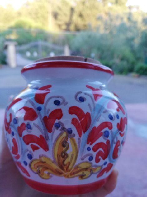 Vaso in ceramica di Caltagirone con miele bio